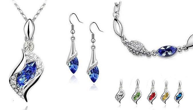 Crystal Drop Jewellery Set
