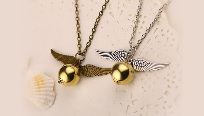 Golden Winged Catch Necklace