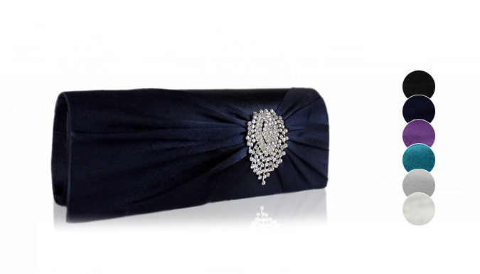 Satin Clutch Bag  6 Colours