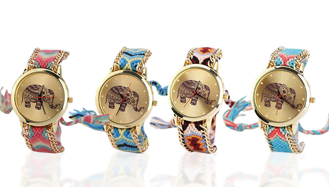Elephant Ethnic Watch  4 Colours