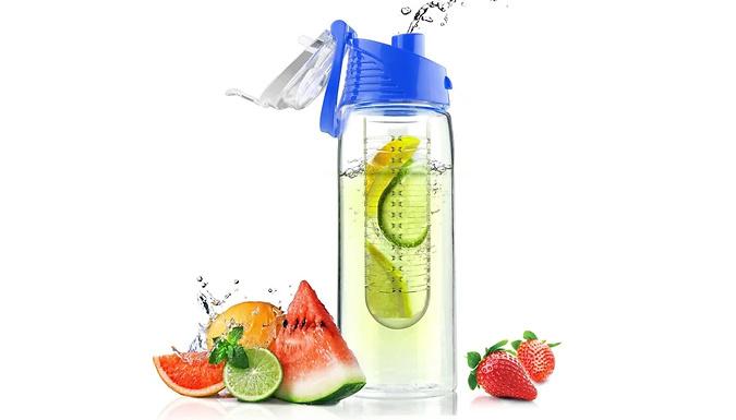 700ml Flip Lid Fruit Infusion Water Bottle