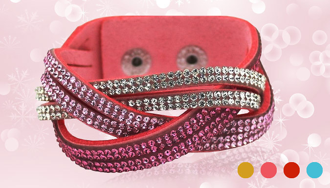 Faux Leather Snake Chain Bracelet - 4 Colours