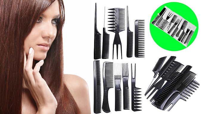 10-Piece Hair Styling Comb Set