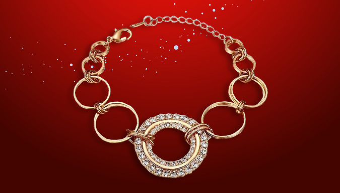 Gold Plated Swarovski Elements Crystal Bracelet