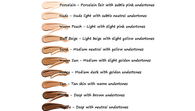 Compare retail prices of 1 or 2 Phoera Full Coverage Foundations - 10 Shades to get the best deal online