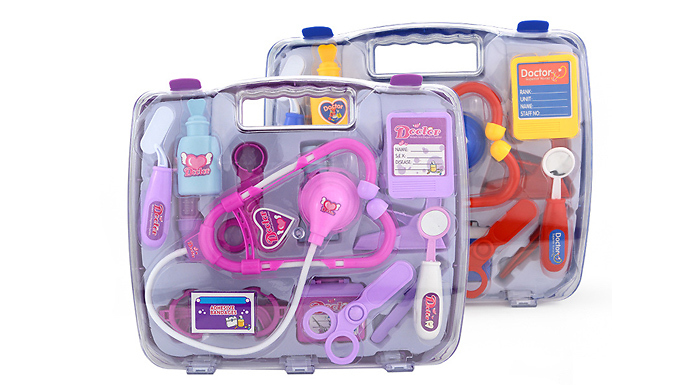 Kids' Doctor Play Set - 2 Colours from Bag a Bargain