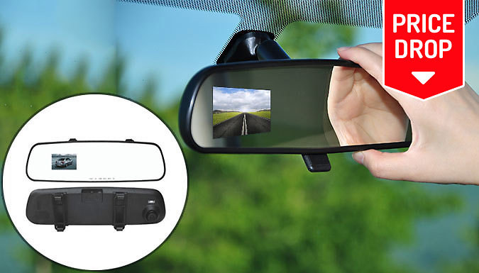 2.7 Inch LCD HD Rearview DVR Mirror Camera with Anti Shake