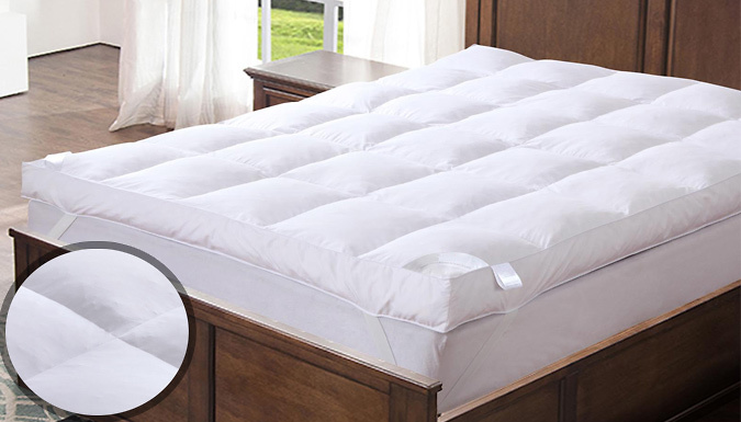 Save on Feather and Down Mattress Topper - 3 Sizes from Go Groopie