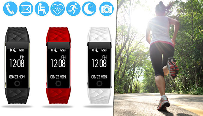 SmartPro Fitness Bracelet with Heart Monitor  3 Colours
