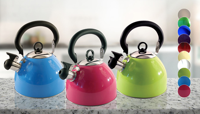 2.5L Whistling Kettle  10 Colours