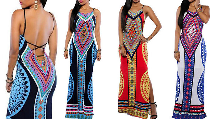Get Tribal Print Dress - 3 Colours from