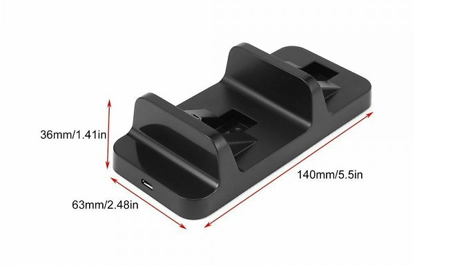 Single or Dual Wireless PS4 Controller USB Charger
