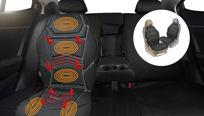 Heated Massage Cushion + Remote Control from Fusion