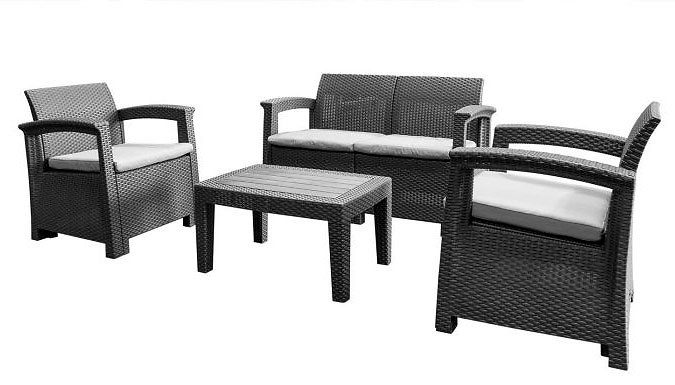 Valencia 4-Piece Rattan Furniture Set (£199)