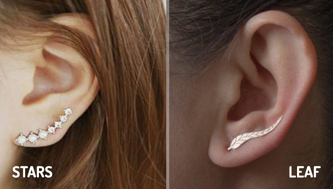Diamante Crystal Crawler Earrings - Free Delivery!