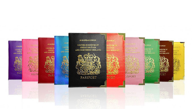 PU Leather Passport Holder; 16 Colours