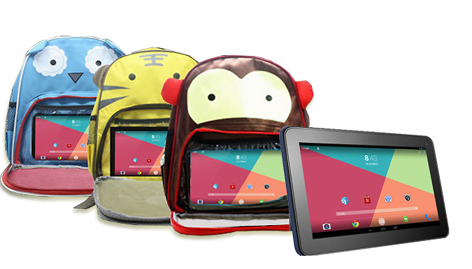 Kids 7 Inch Tablet and Backpack Bundle - 3 Designs