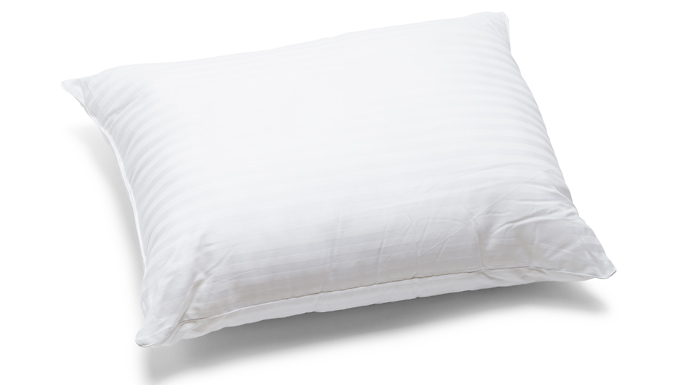 Save on Satin Stripe Pillow - Hotel Quality! - 2 or 4 from Go Groopie