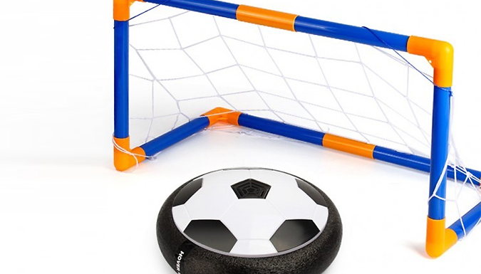 Air Hover Light-Up Football With Goal from Secret Plums