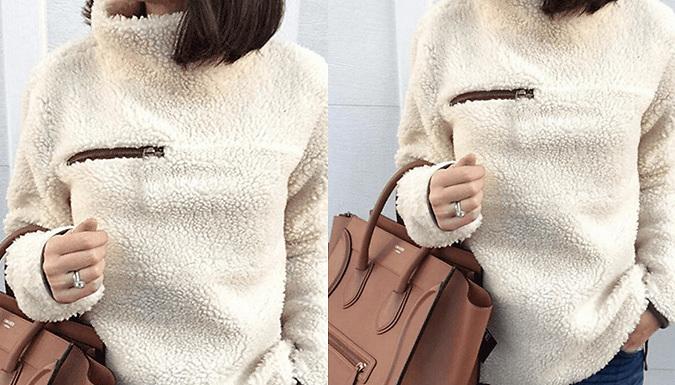 Women's Teddy Style Fleece Pullover - 2 Colours
