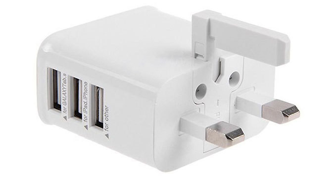 3-Port USB Charger Plug