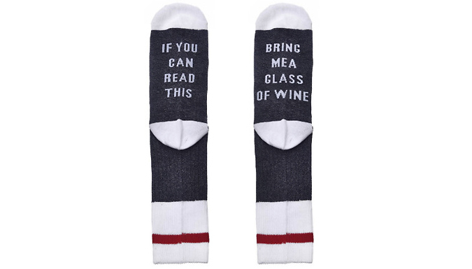 Compare retail prices of 'Bring Me Wine' Socks to get the best deal online