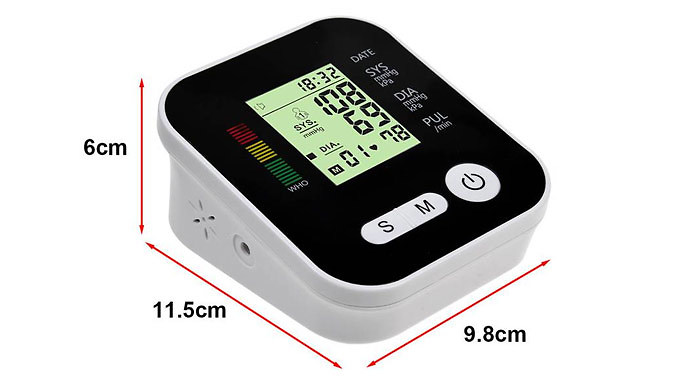 4in1 Blood Pressure Monitor with LCD Display + Voice Function