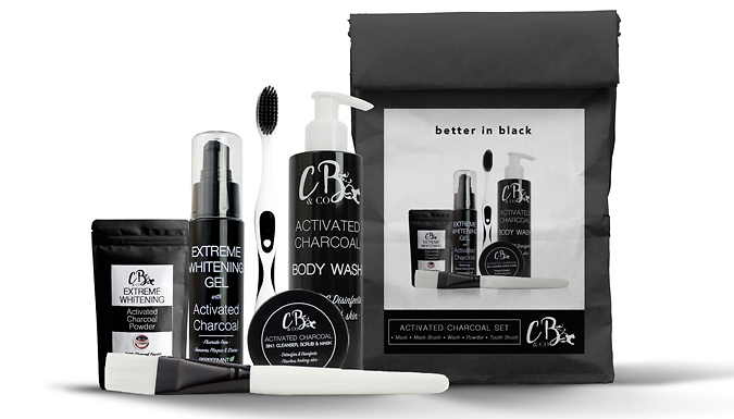 Cheapest price of 'Better In Black' Charcoal Set - For Skin and Teeth! in new is £19.99