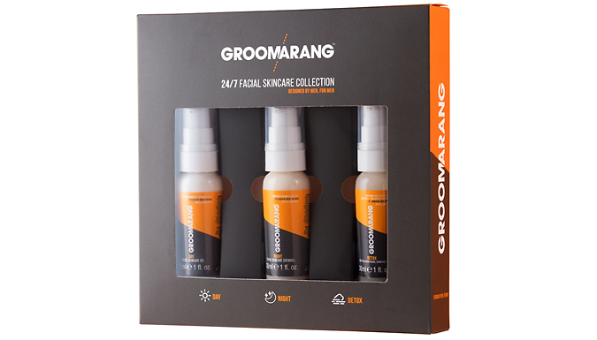 Groomarang Men's 24/7 Facial Skincare Gift Set - Includes 3 Products