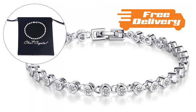 3ct Simulated Sapphire Tennis Bracelet  Free Delivery!