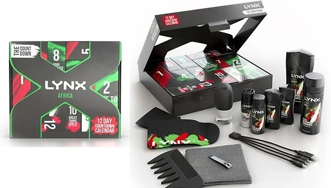 1, 2 or 3 Lynx Africa 12-Day Christmas Advent Calendars from GoGroopie