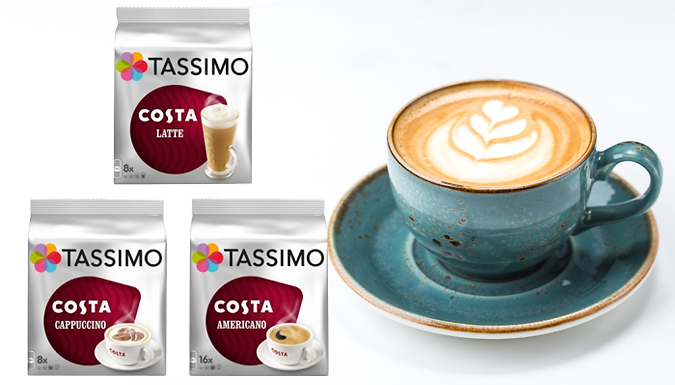 48 Tassimo Costa T Discs Pods  Variety Pack Options!