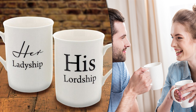 Compare retail prices of 'His Lordship' & 'Her Ladyship' Novelty Coffee Mugs to get the best deal online