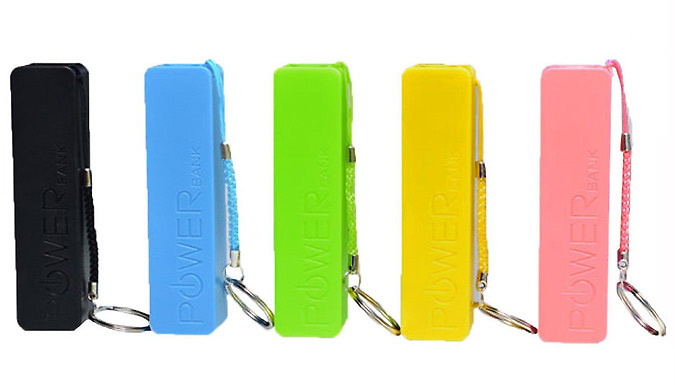 Mobile Powerbank Keyring  5 Colours