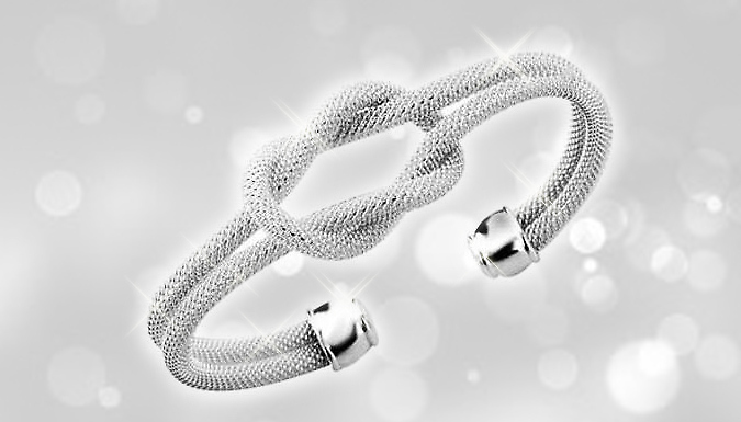 Silver Plated Knotted Bracelet