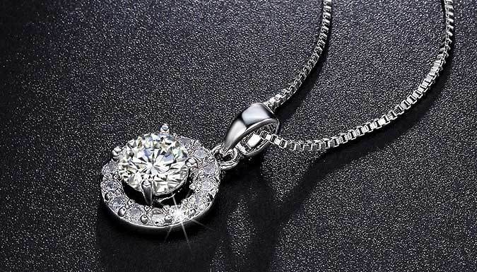 18K White Gold Plated Faith Necklace