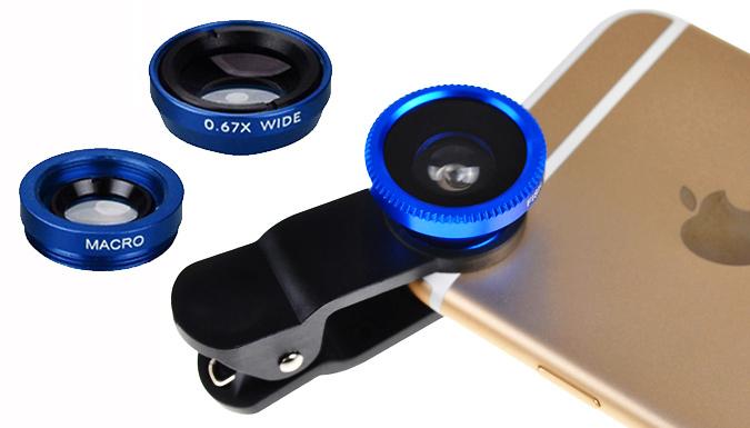DDDeals - 3-in-1 Smartphone Camera Lens Kit