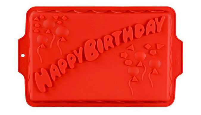 Large Silicone Happy Birthday Cake Mould
