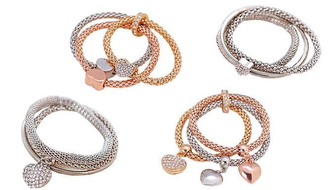 Van Amstel Crystal Bracelet - 4 Designs