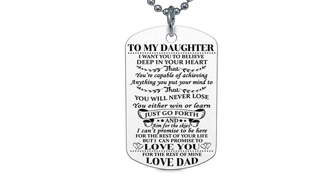 Compare retail prices of 'To My Son' And 'To My Daughter' Necklace - 4 Designs to get the best deal online
