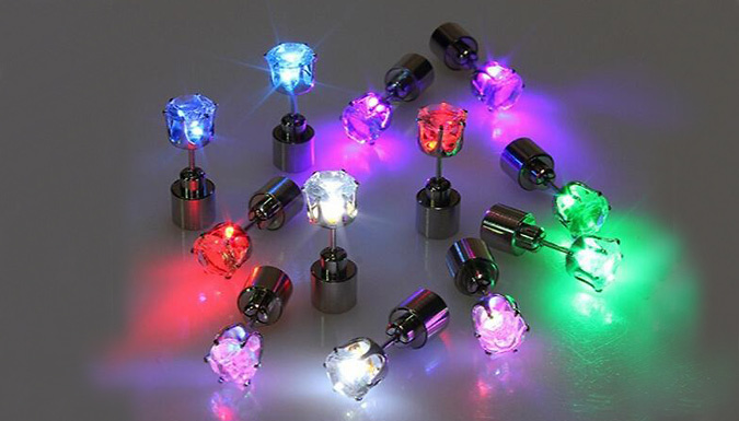 DDDeals - LED 'Night-Shine' Earrings - 1 or 2 Pairs