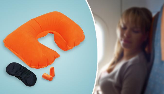 Travel Pillow Set With Sleep Mask & Earplugs