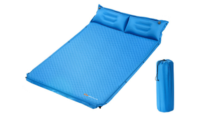 Self-Inflating 2-Person Camping Mat With Pillows from Costway