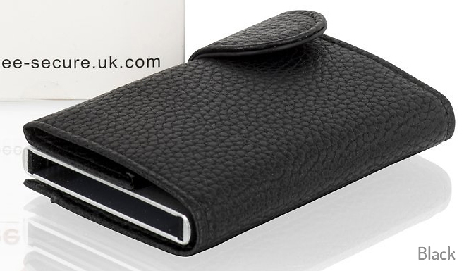 Genuine Leather Bee-Secure RFID 6-Card Holder - 5 Colours