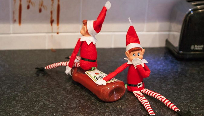 12 Inch Poseable Naughty Elves