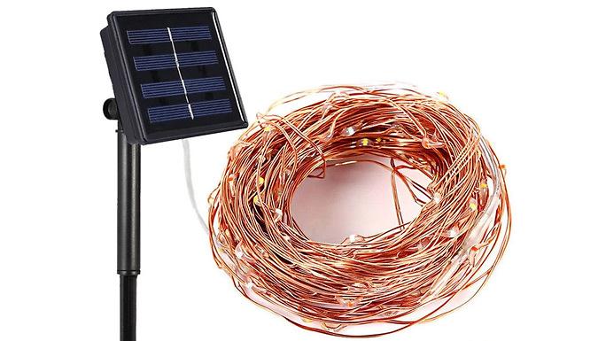 100 or 200 LED Solar Power String Lights - 3 Colours