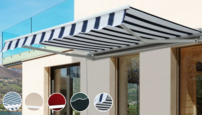Outsunny L or XL Retractable Canopy Awning - 4 Colours