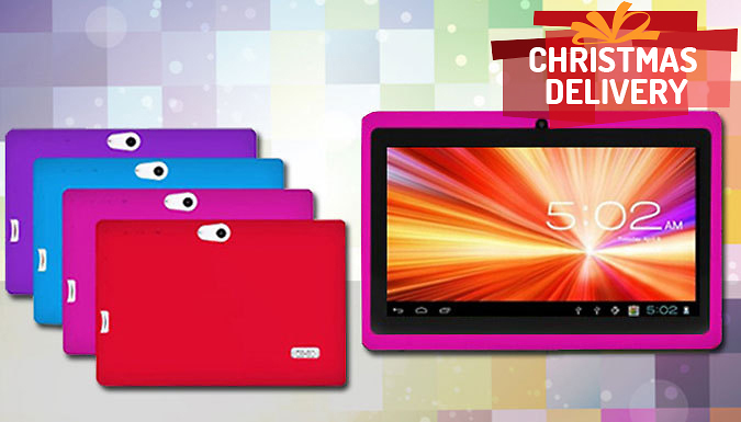 48 Hour Flash Sale! - 7 Inch Children\'s Android Tablet with Shockproof Case - 4 Colours