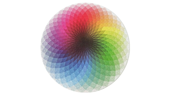 1000-Piece Colourful Round Rainbow Puzzle