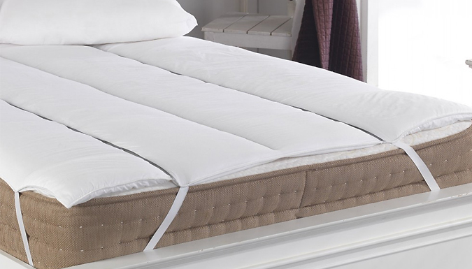 Anti Allergy Hollow Fibre Topper with 2 or 4 Pillows - 3 Sizes